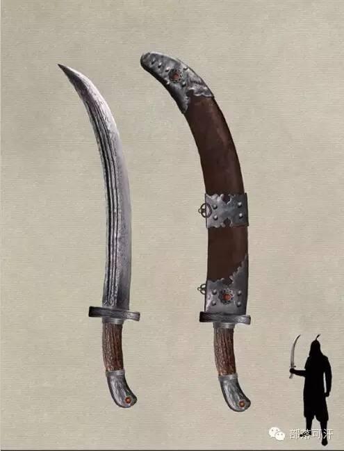 【蒙古战刀】设计师还原古代蒙古战刀兵器图集 第2张