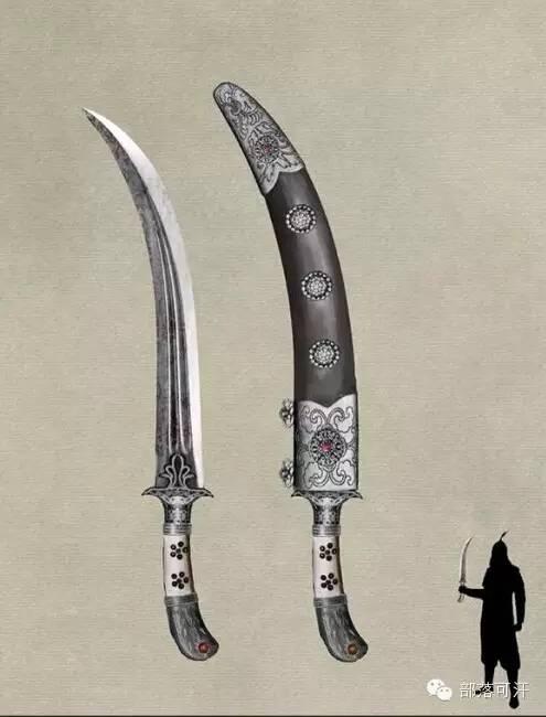 【蒙古战刀】设计师还原古代蒙古战刀兵器图集 第4张