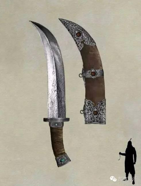 【蒙古战刀】设计师还原古代蒙古战刀兵器图集 第3张