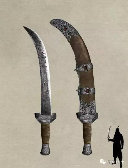 【蒙古战刀】设计师还原古代蒙古战刀兵器图集 第1张