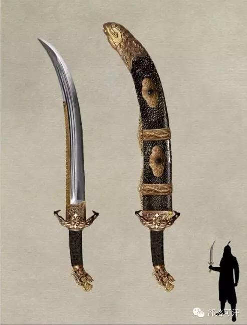 【蒙古战刀】设计师还原古代蒙古战刀兵器图集 第5张