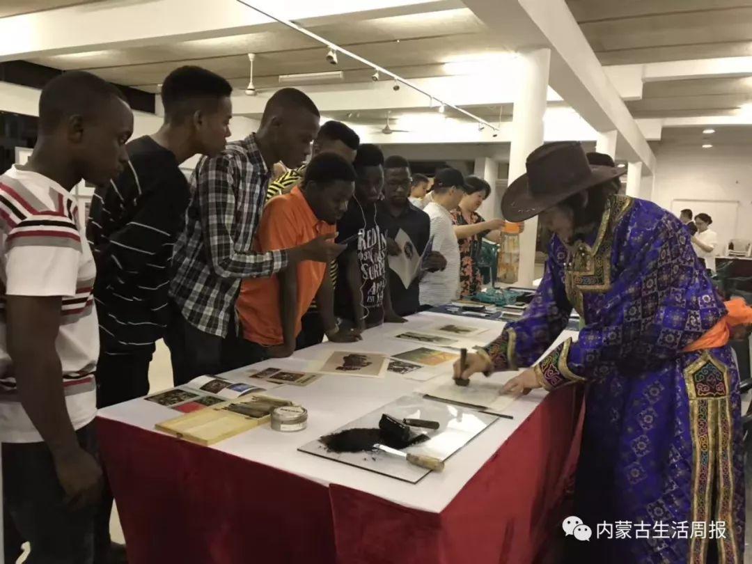 首次首次首次!蒙古版画在非洲引热议!? 第1张 首次首次首次!蒙古版画在非洲引热议!? 蒙古画廊