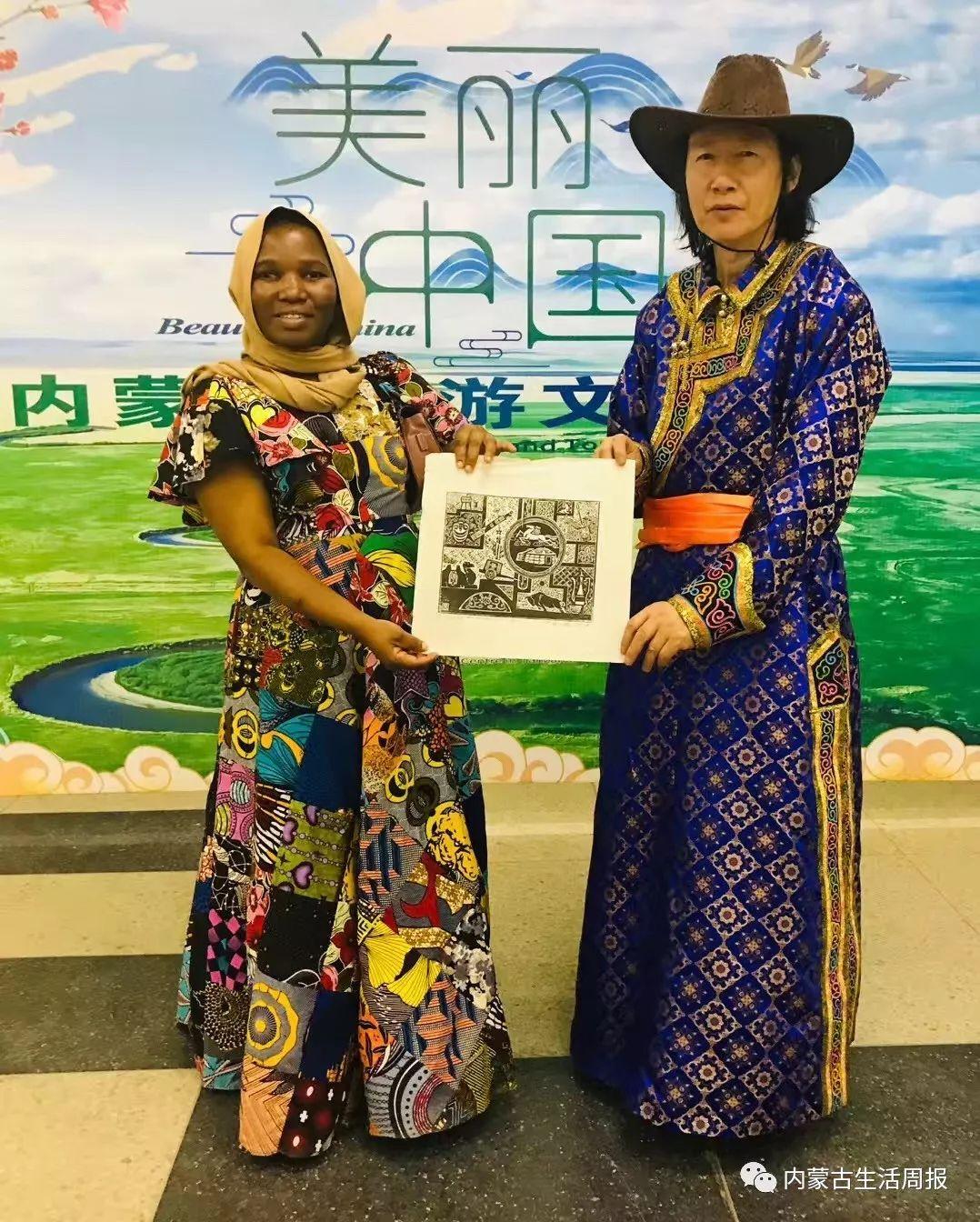 首次首次首次!蒙古版画在非洲引热议!? 第4张 首次首次首次!蒙古版画在非洲引热议!? 蒙古画廊