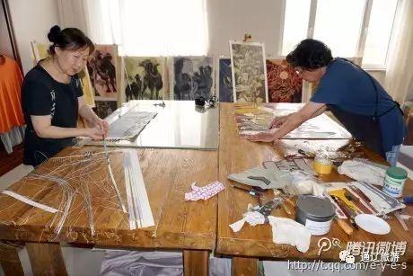 内蒙古探访:科尔沁版画新品——编织版画 绝版价值高哟 第1张