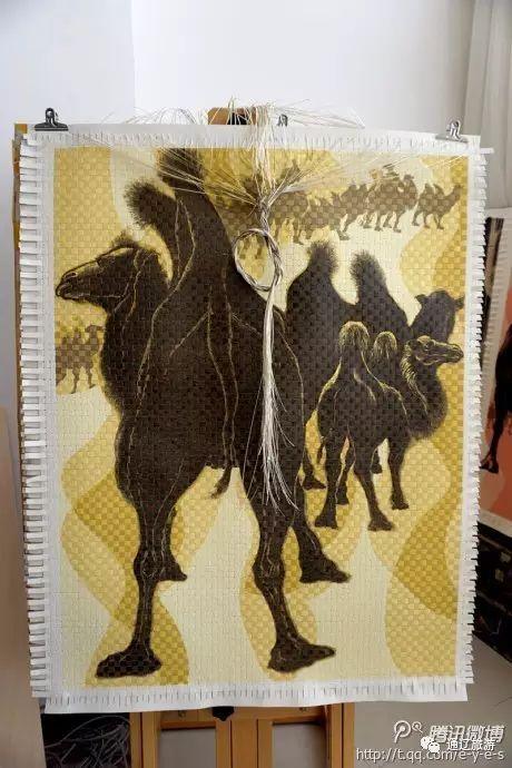 内蒙古探访:科尔沁版画新品——编织版画 绝版价值高哟 第6张