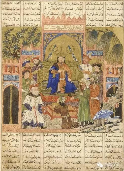 蒙兀尔时代的细密画—蒙古画 第3张 蒙兀尔时代的细密画—蒙古画 蒙古画廊