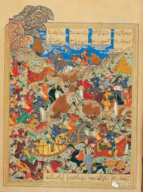 蒙兀尔时代的细密画—蒙古画 第6张 蒙兀尔时代的细密画—蒙古画 蒙古画廊