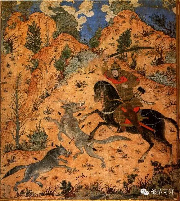 蒙兀尔时代的细密画—蒙古画 第14张 蒙兀尔时代的细密画—蒙古画 蒙古画廊
