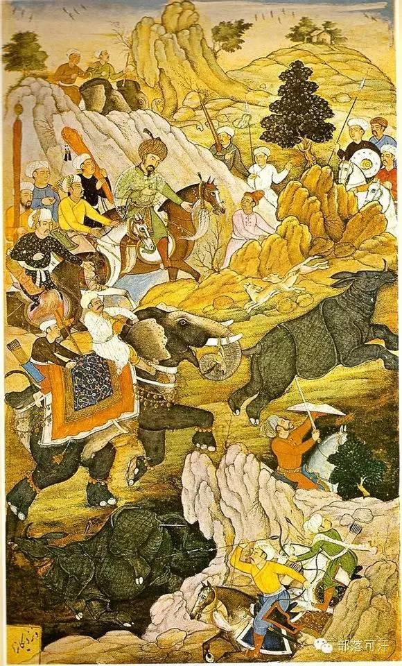 蒙兀尔时代的细密画—蒙古画 第19张 蒙兀尔时代的细密画—蒙古画 蒙古画廊