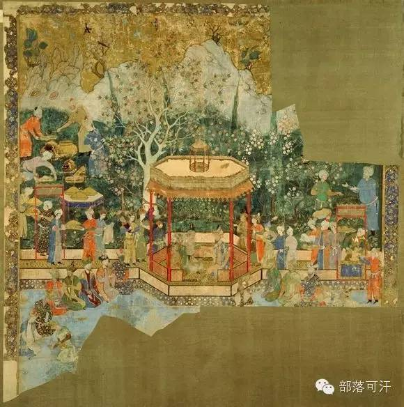 蒙兀尔时代的细密画—蒙古画 第23张 蒙兀尔时代的细密画—蒙古画 蒙古画廊