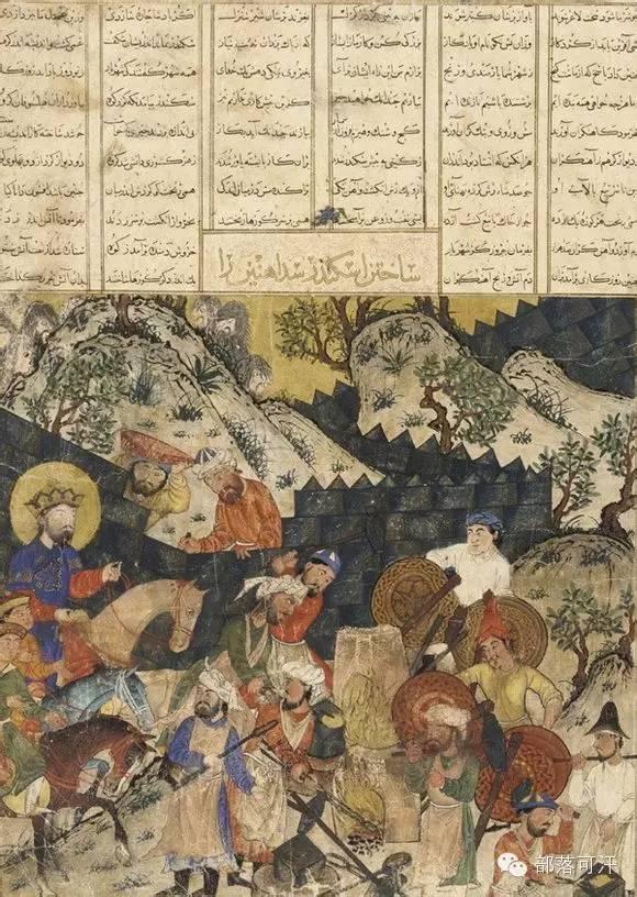 蒙兀尔时代的细密画—蒙古画 第27张 蒙兀尔时代的细密画—蒙古画 蒙古画廊