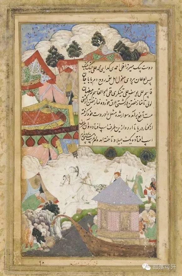 蒙兀尔时代的细密画—蒙古画 第26张 蒙兀尔时代的细密画—蒙古画 蒙古画廊