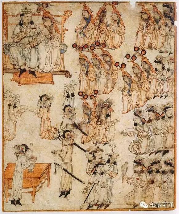 蒙兀尔时代的细密画—蒙古画 第29张 蒙兀尔时代的细密画—蒙古画 蒙古画廊