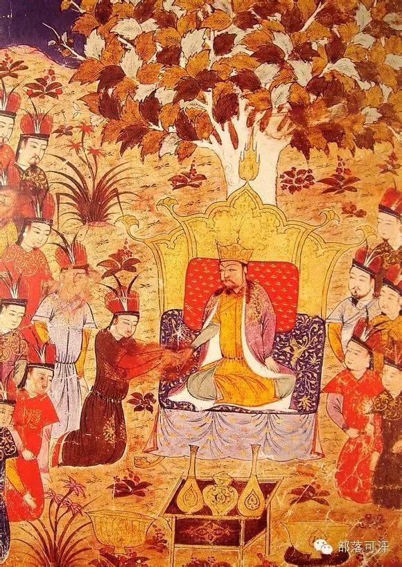 蒙兀尔时代的细密画—蒙古画 第41张 蒙兀尔时代的细密画—蒙古画 蒙古画廊