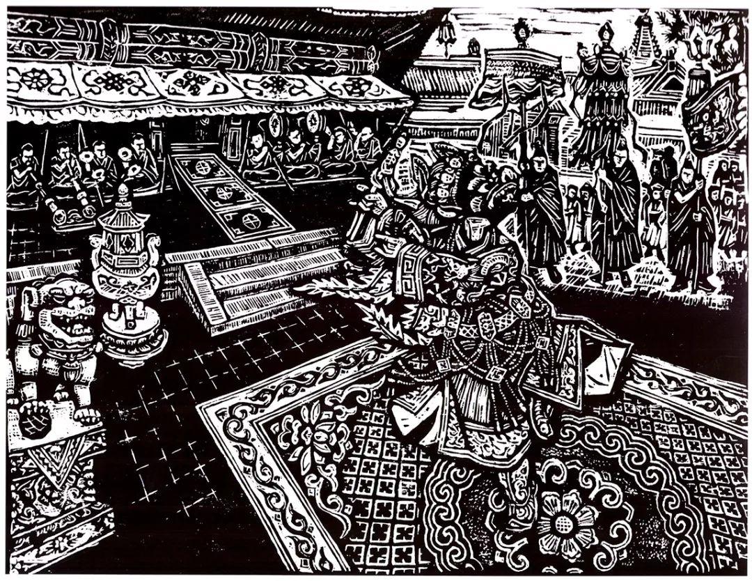 科尔沁文化名片 | 蓬勃发展的奈曼版画 第2张 科尔沁文化名片 | 蓬勃发展的奈曼版画 蒙古画廊
