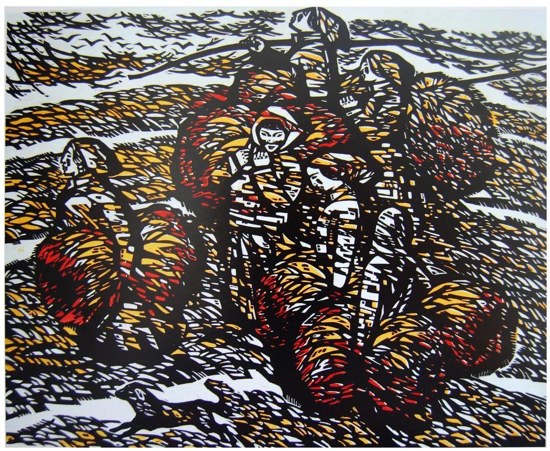 科尔沁文化名片 | 蓬勃发展的奈曼版画 第4张 科尔沁文化名片 | 蓬勃发展的奈曼版画 蒙古画廊