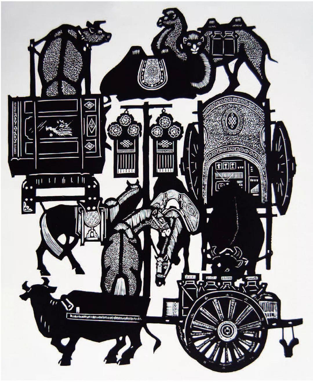 科尔沁文化名片 | 蓬勃发展的奈曼版画 第3张 科尔沁文化名片 | 蓬勃发展的奈曼版画 蒙古画廊