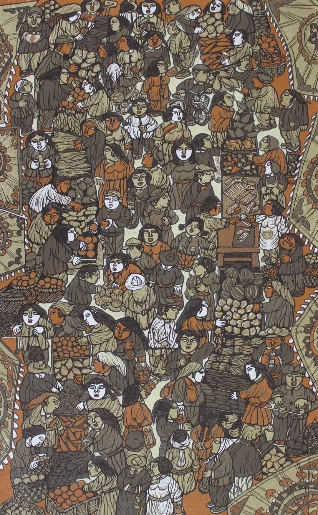 科尔沁文化名片 | 蓬勃发展的奈曼版画 第7张 科尔沁文化名片 | 蓬勃发展的奈曼版画 蒙古画廊