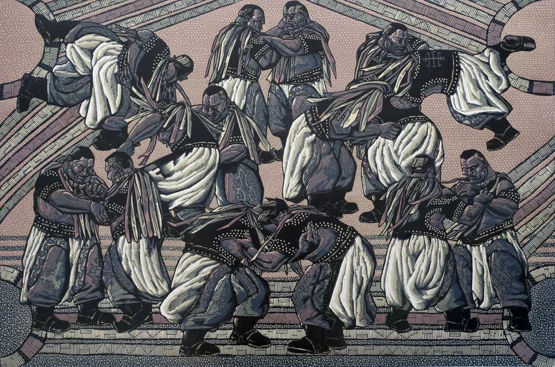 科尔沁文化名片 | 蓬勃发展的奈曼版画 第33张 科尔沁文化名片 | 蓬勃发展的奈曼版画 蒙古画廊