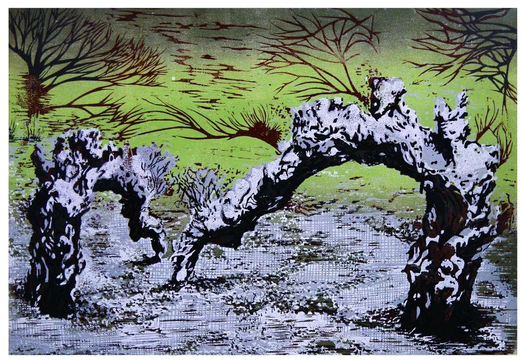 科尔沁文化名片 | 蓬勃发展的奈曼版画 第36张 科尔沁文化名片 | 蓬勃发展的奈曼版画 蒙古画廊
