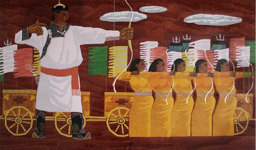 科尔沁文化名片 | 蓬勃发展的奈曼版画 第40张 科尔沁文化名片 | 蓬勃发展的奈曼版画 蒙古画廊
