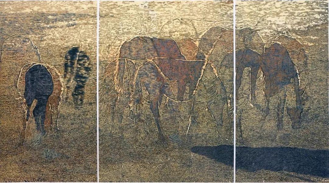 科尔沁文化名片 | 蓬勃发展的奈曼版画 第38张 科尔沁文化名片 | 蓬勃发展的奈曼版画 蒙古画廊