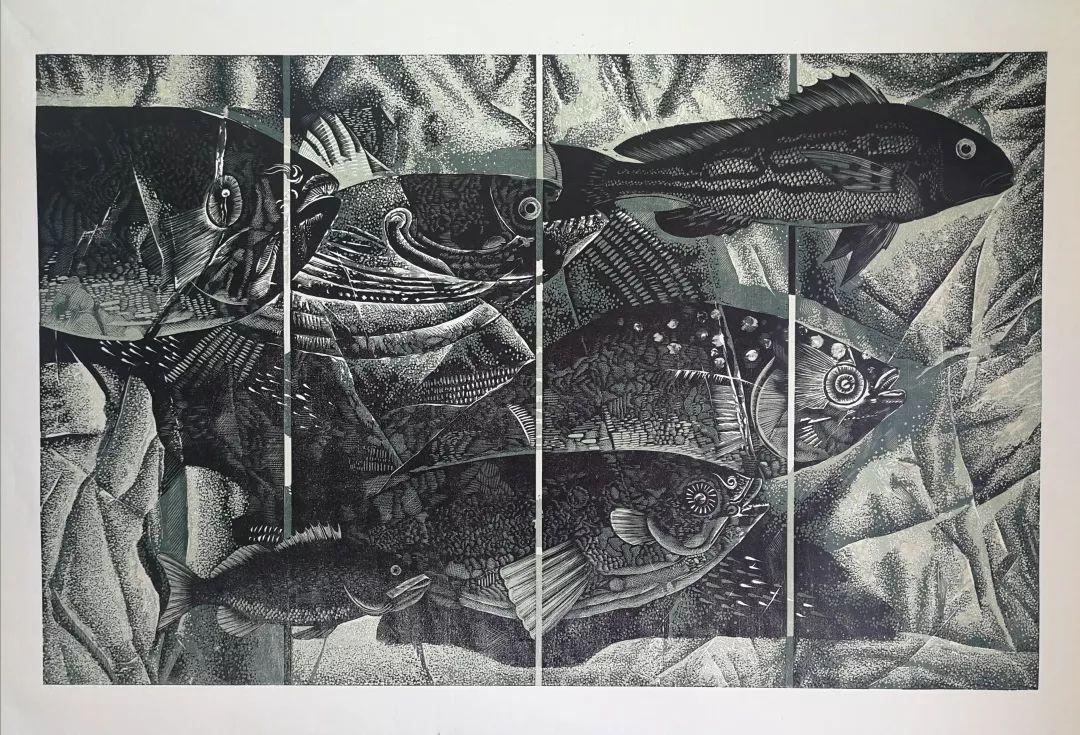 科尔沁文化名片 | 蓬勃发展的奈曼版画 第41张 科尔沁文化名片 | 蓬勃发展的奈曼版画 蒙古画廊