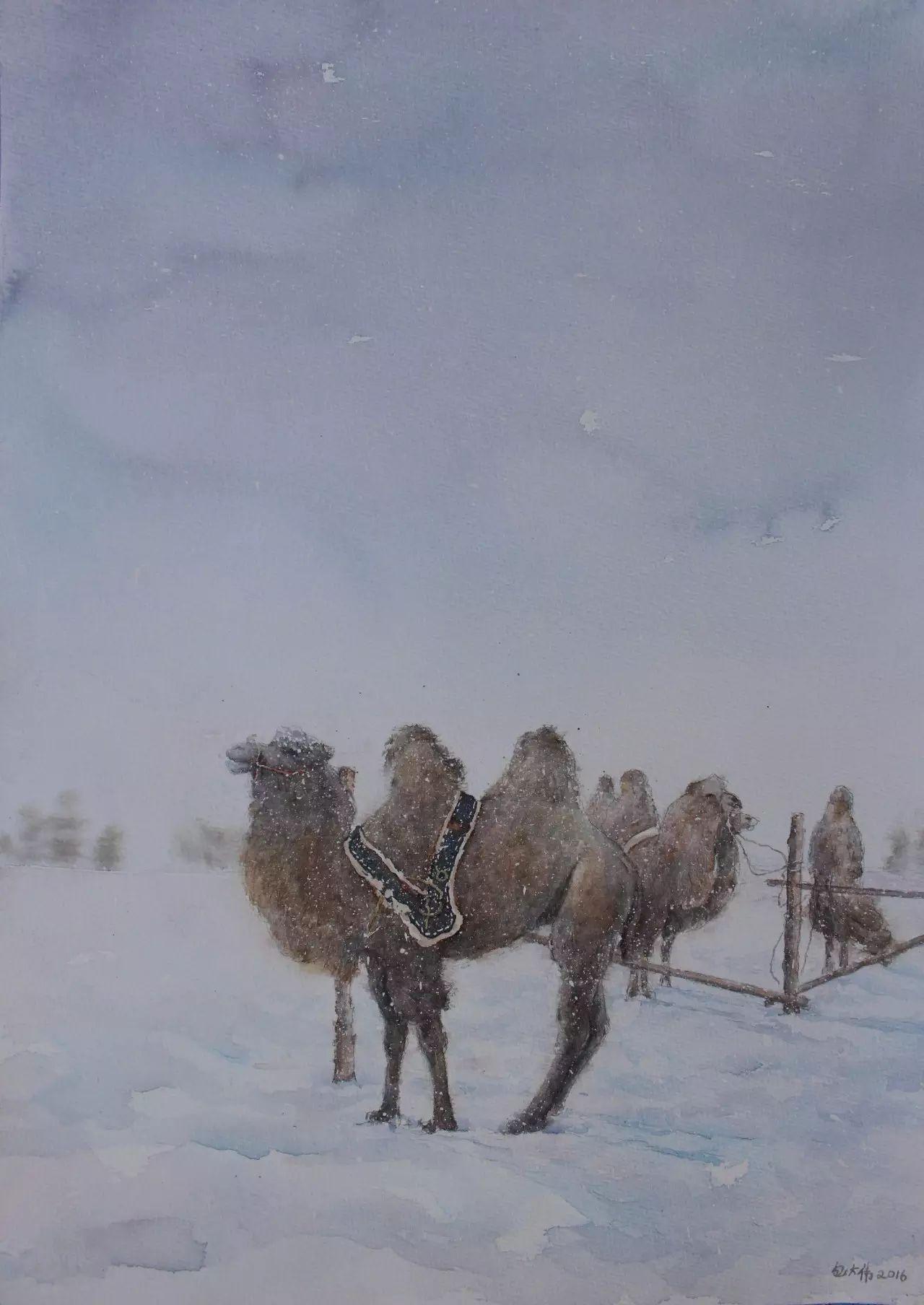 【图片】包大伟水粉画作品欣赏 第7张 【图片】包大伟水粉画作品欣赏 蒙古画廊