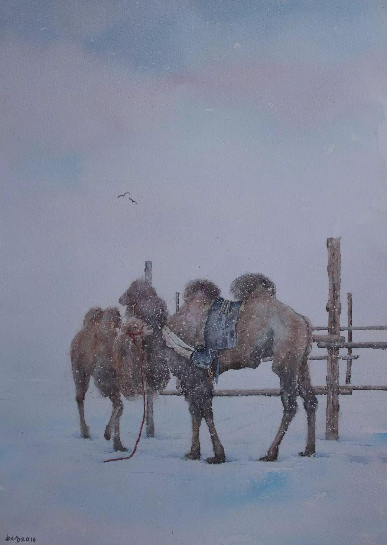 【图片】包大伟水粉画作品欣赏 第13张 【图片】包大伟水粉画作品欣赏 蒙古画廊