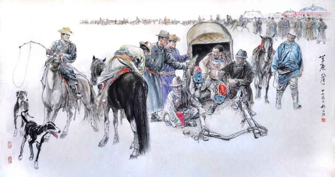 内蒙古画家--彭志信 第45张 内蒙古画家--彭志信 蒙古画廊