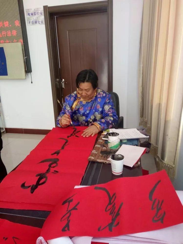 【赏图】乌云达来的蒙古文书法欣赏 第2张