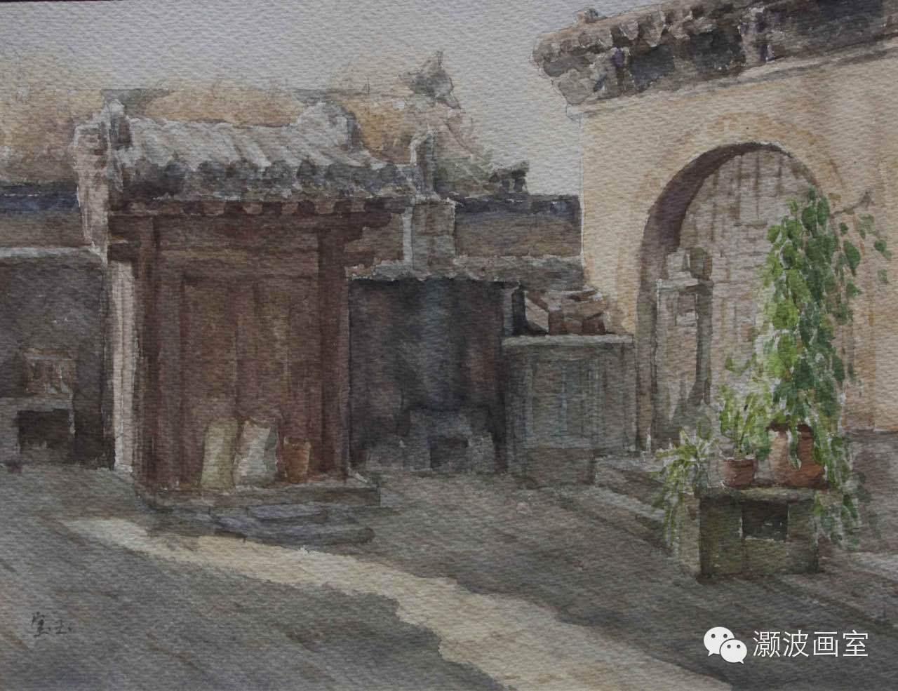 著名蒙古族青年水彩画家宝玉作品欣赏