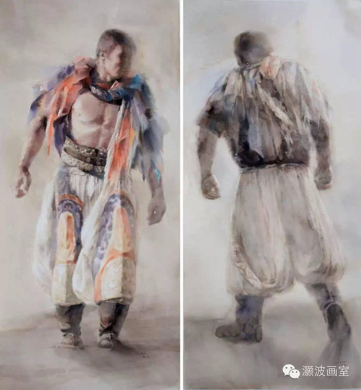 著名蒙古族青年水彩画家宝玉作品欣赏 第3张