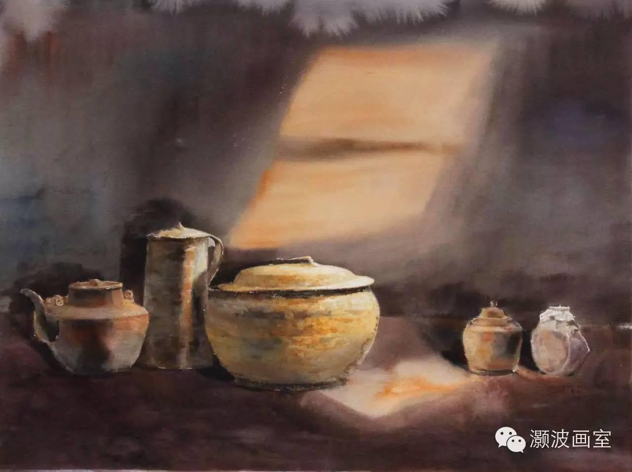 著名蒙古族青年水彩画家宝玉作品欣赏 第2张
