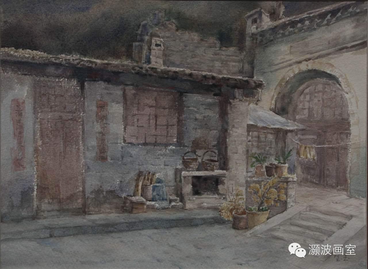 著名蒙古族青年水彩画家宝玉作品欣赏 第9张