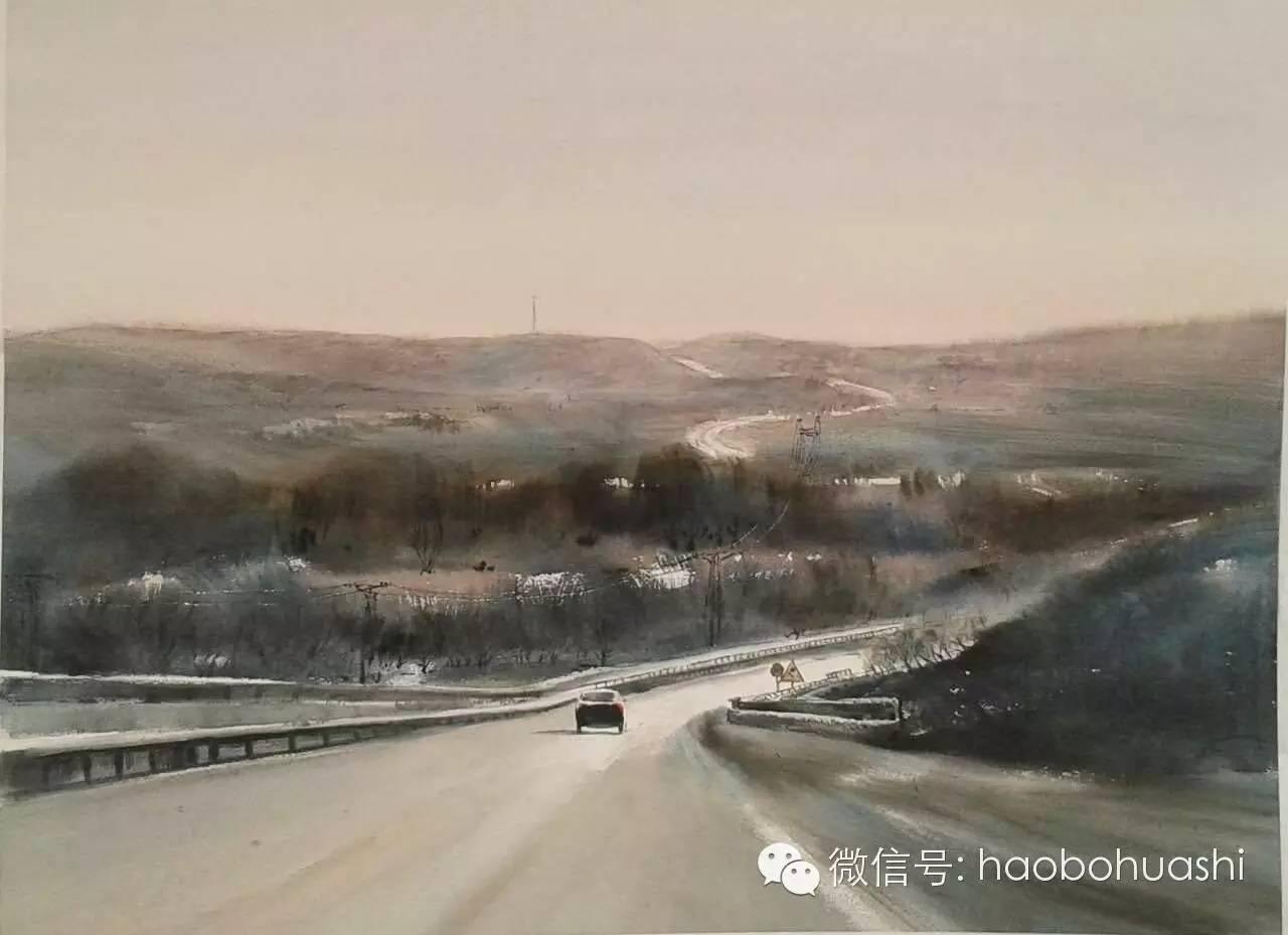 著名蒙古族青年水彩画家宝玉作品欣赏 第17张