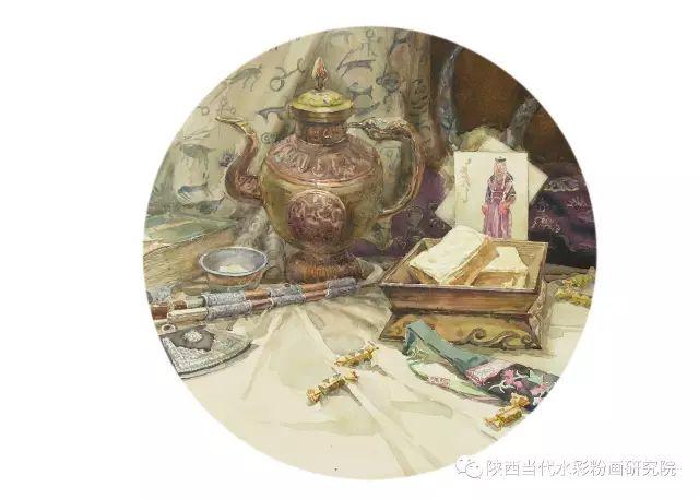 盘丝洞 |孟巴伊森水彩作品欣赏 第3张