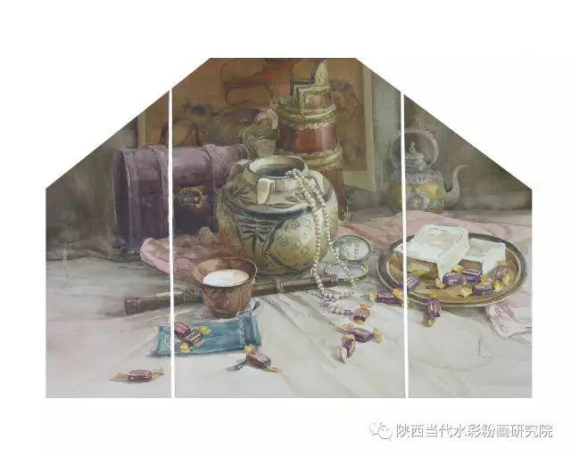 盘丝洞 |孟巴伊森水彩作品欣赏 第2张