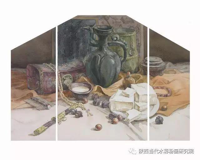 盘丝洞 |孟巴伊森水彩作品欣赏 第4张