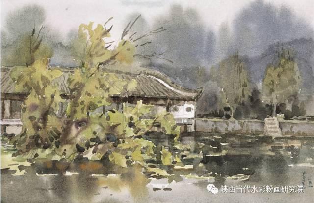 盘丝洞 |孟巴伊森水彩作品欣赏 第11张