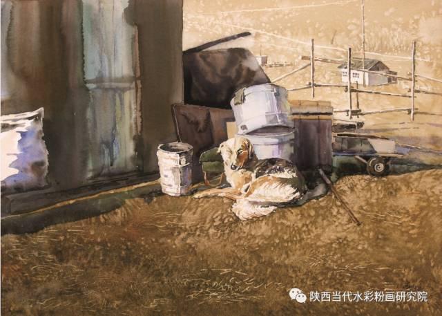 盘丝洞 |孟巴伊森水彩作品欣赏 第19张