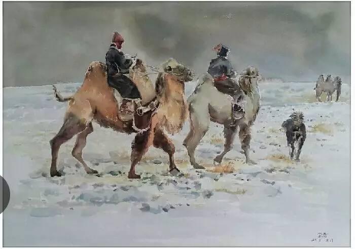 蒙古族青年画家白国君作品欣赏 第3张