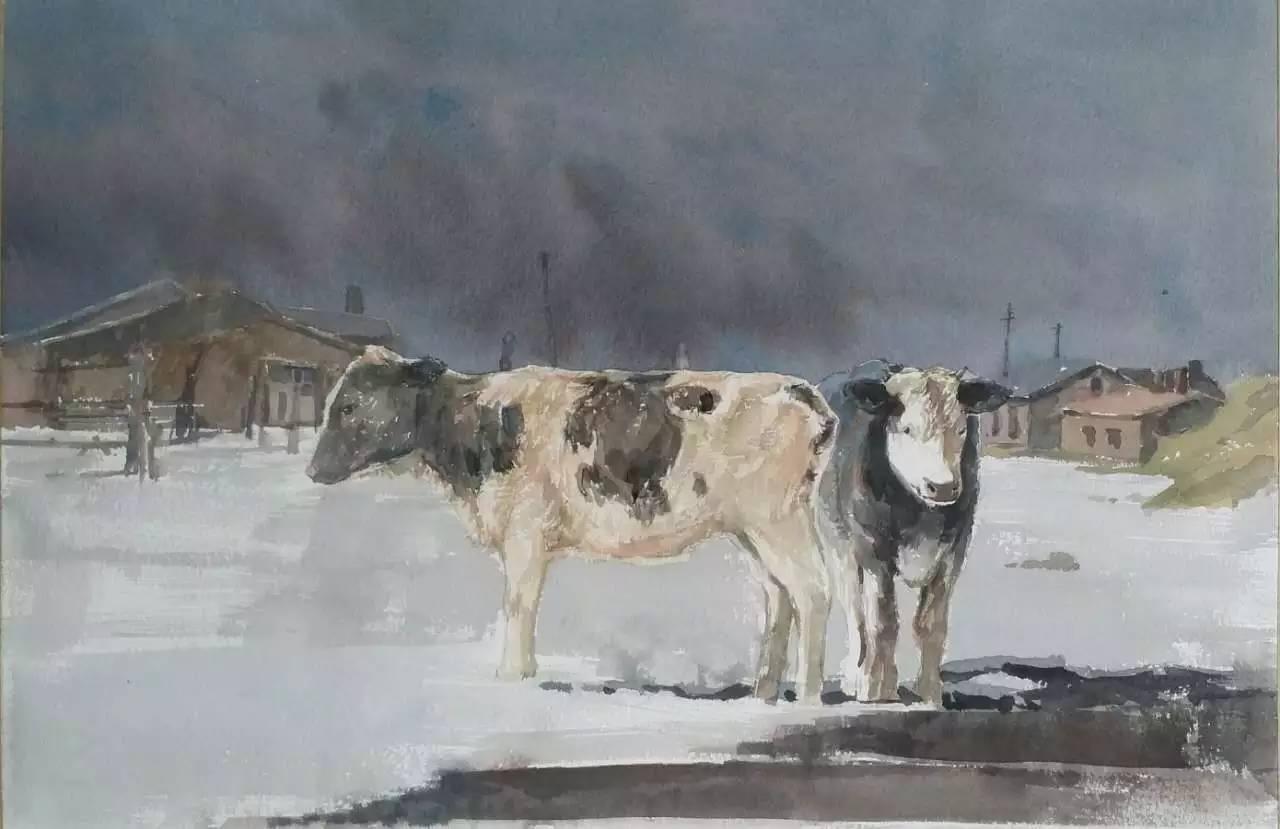 蒙古族青年画家白国君作品欣赏 第15张
