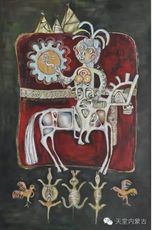蒙古族青年画家——朝鲁及其油画创作 第3张