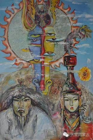 蒙古族青年画家——朝鲁及其油画创作 第2张