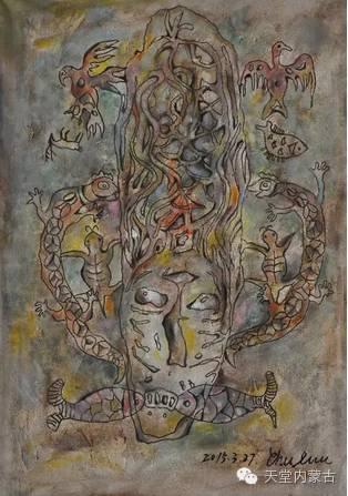 蒙古族青年画家——朝鲁及其油画创作 第6张