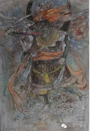 蒙古族青年画家——朝鲁及其油画创作 第7张