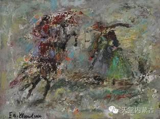 蒙古族青年画家——朝鲁及其油画创作 第11张