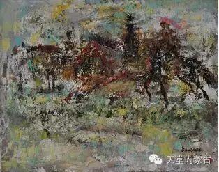 蒙古族青年画家——朝鲁及其油画创作 第12张