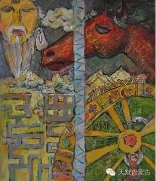 蒙古族青年画家——朝鲁及其油画创作 第13张